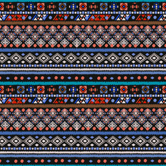 Photo sur Plexiglas Style Boho Ethnic seamless pattern