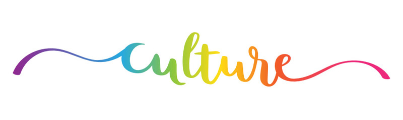 CULTURE vector brush calligraphy banner with swashes