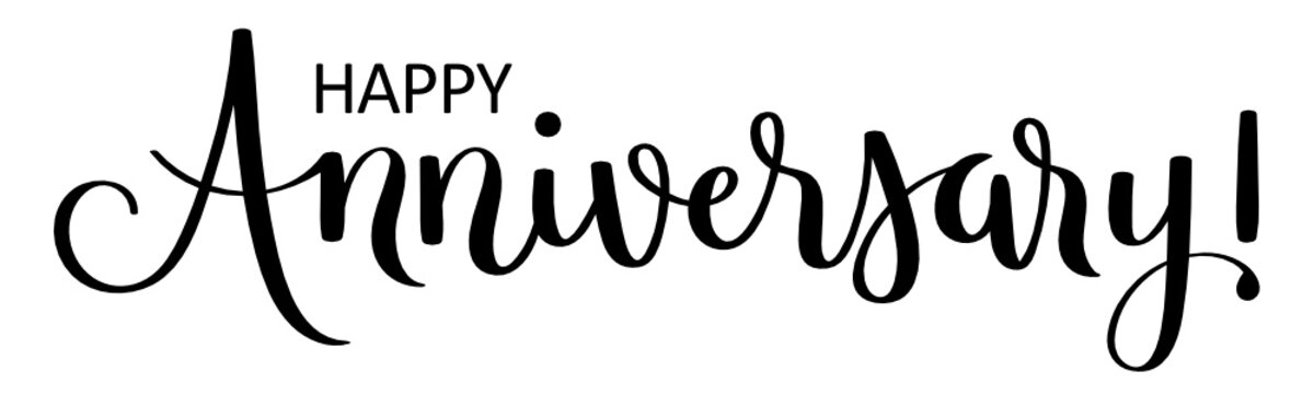 HAPPY ANNIVERSARY! vector brush calligraphy banner