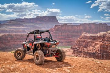 Polaris RZR ATV on Chicken Corner 4WD trail near Moab
