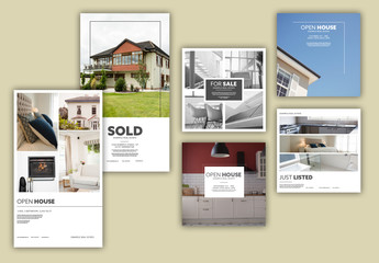 Real Estate Photo Social Media Layout Set