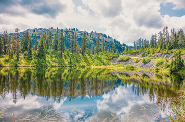 HDR view from Highwood Lake Mount Baker Highway