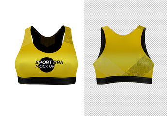 Sports Bra Front and Back Mockup