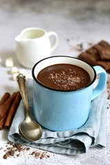 Canvas Prints Chocolate Hot chocolate - winter spicy drink.