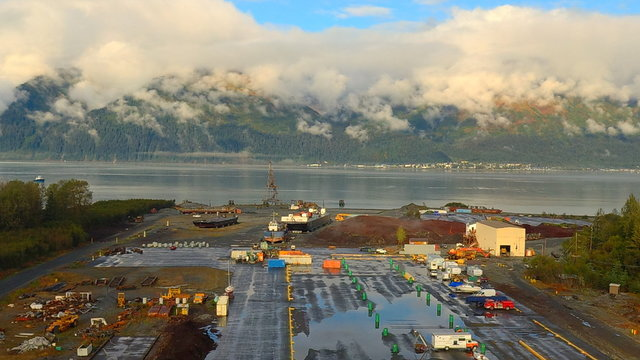 Early fall views from a shipyard in Alaska