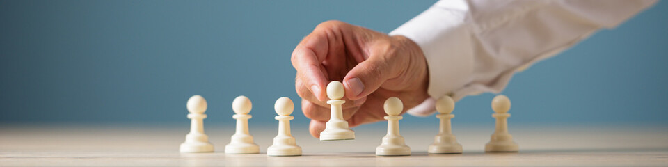 Business leadership and recruitment concept