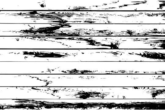 Barnwood vector texture overlay. Wood planks isolated on white background