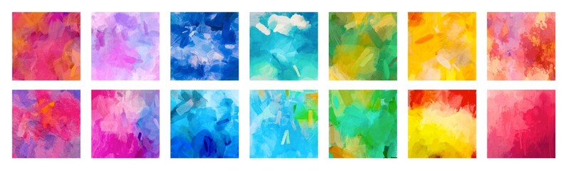 Fotobehang - Big set of bright colorful watercolor background for poster, brochure or flyer