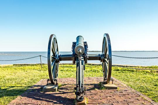 Civil War Cannon at Fort Sumter, South Carolina