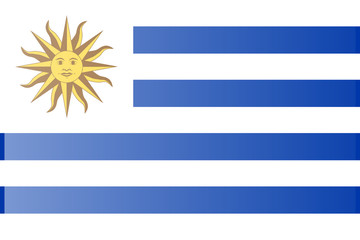 original and simple Uruguay flag isolated in official colors and Proportion Correctly