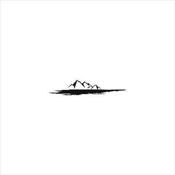 Mountain logo Peak Hill Nature Landscape design element