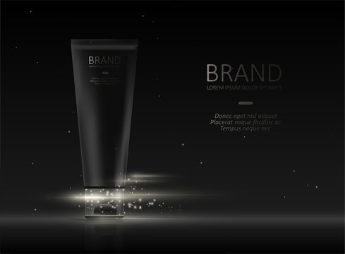 Black cream template for ads