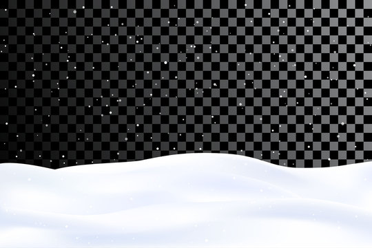 Vector illustration in 3D concept. Snowy gradient landscape. Winter decoration. Snow overlay. Website template. Minimalist wallpapers