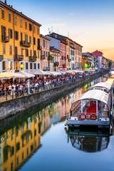 Fototapete - Milan, Naviglio Grande, Italy