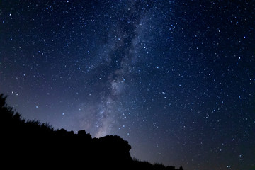 Milky Way during the summer in Spain