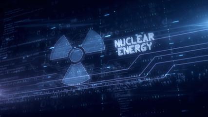 Nuclear energy symbol hologram
