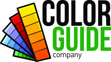 Cute and funny logo for color guide store or company
