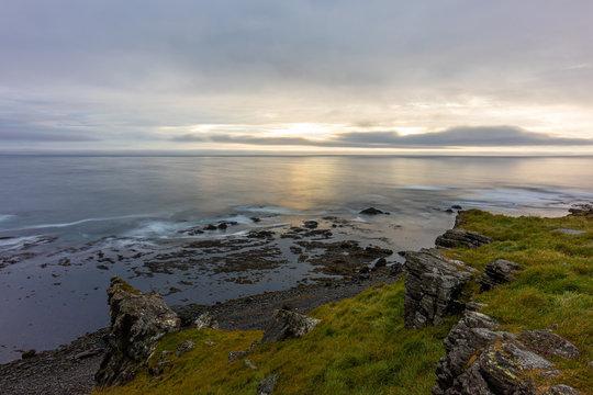 Eastcoast of the Westfjords peninsula in Iceland