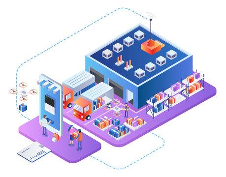 Business Logistics Service. Company Supply Chain