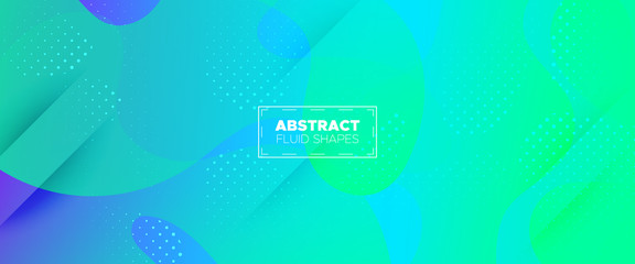 Vibrant Abstract Background. Fluid Shapes. 3d