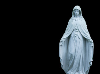 Fotomurales - Antique statue of holy Virgin Mary as symbol of pain, suffering and love.