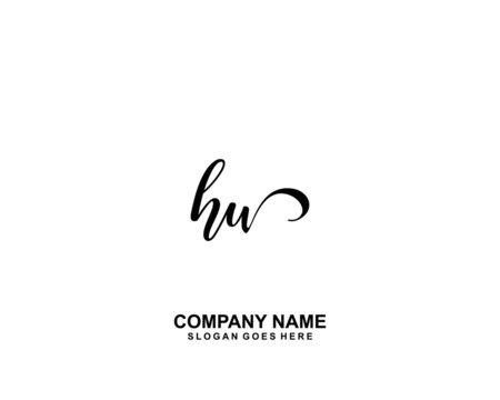 HW Initial handwriting logo vector