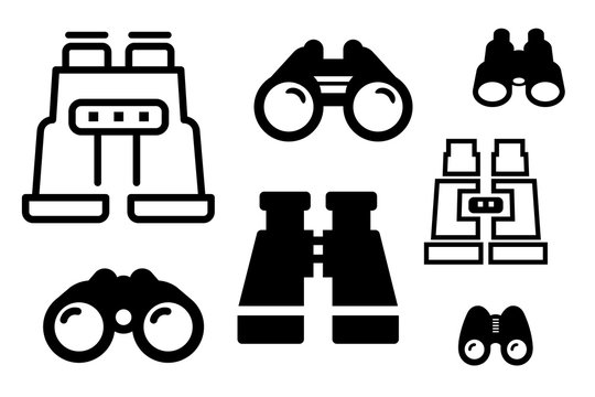 Binoculars Icon Set