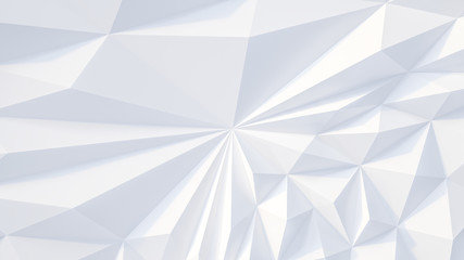 Fototapete - White backround. Abstract Illustration. Parametric Low poly triangle
