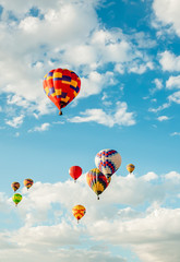 Printed roller blinds Balloon hot air balloons in the sky