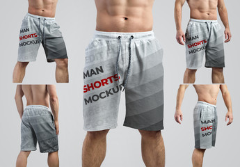 5 Athletic Shorts Mockups