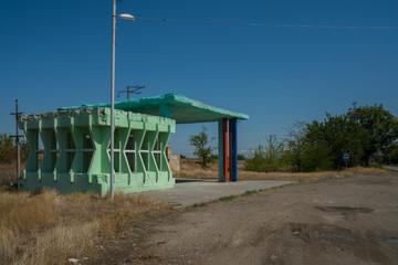 Bus station in Armenia