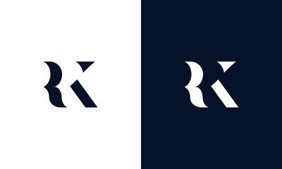 Abstract letter RK logo. This logo icon incorporate with abstract shape in the creative way.