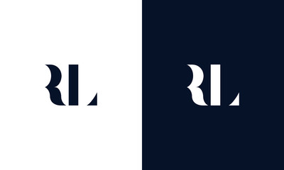 Abstract letter RL logo. This logo icon incorporate with abstract shape in the creative way.