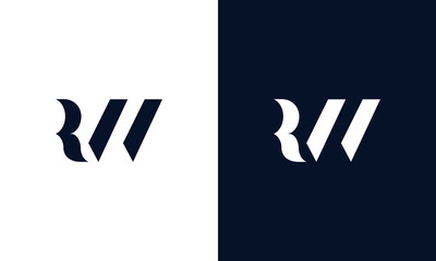 Abstract letter RW logo. This logo icon incorporate with abstract shape in the creative way.