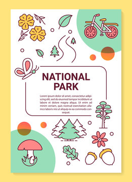 National park poster template layout