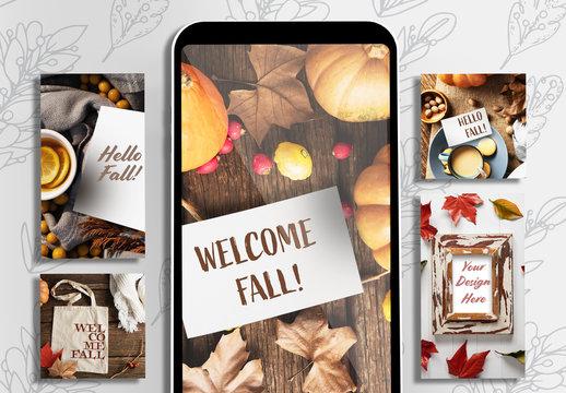 Welcome Fall Social Media Set
