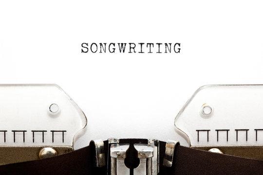 Songwriting Retro Typewriter Concept