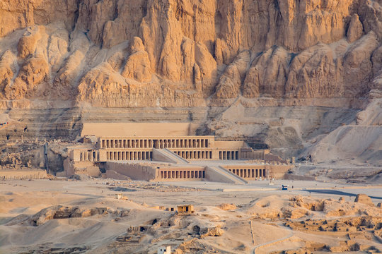 Aerial view of Hatshepsut Temple, Luxor, Egypt