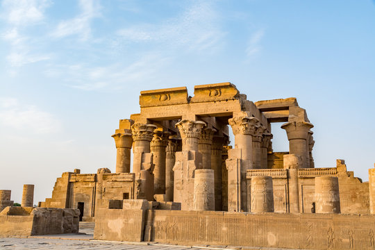Kom Ombo Temple of the crocodile god Sobek in Egypt