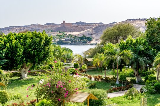 Botanical island (Lord Kitchener's island) on Nile river, Egypt