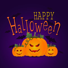 Halloween party banner, vector illustration.