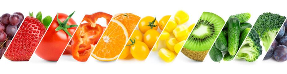 Keuken foto achterwand Verse groenten Fruits and vegetables. Fresh ripe food