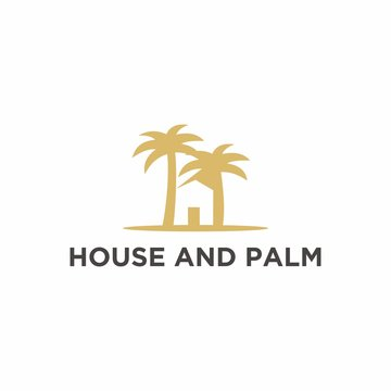 real estate logos, houses and palms
