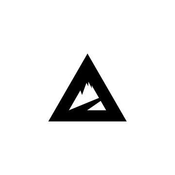 mountain logo concept black vector