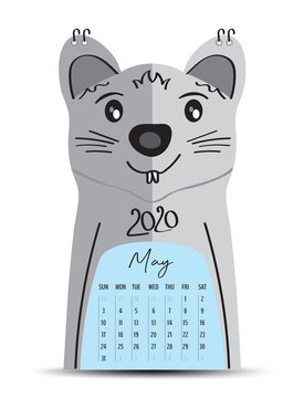 5-May 2020 on rat cartoon frame