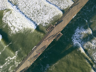 Aerial View of Oceanside Pier in San Diego County California