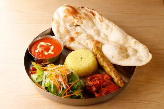 Indian food curry naan インド料理 カレー ナン