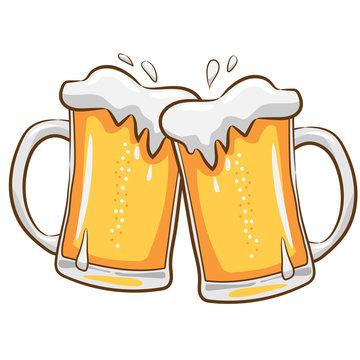 beer mug  vector clipart