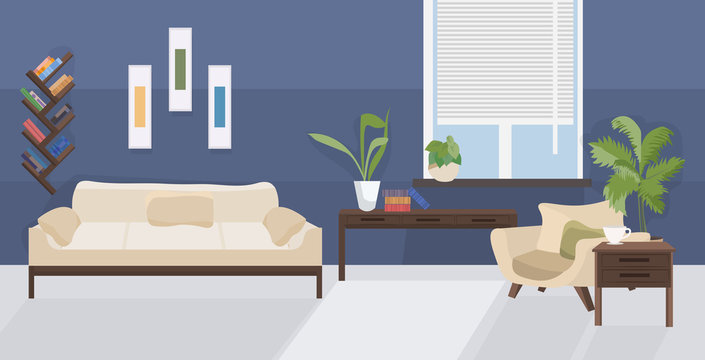 modern living room interior empty no people house room with furniture flat horizontal