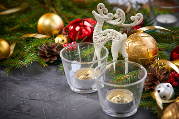 Christmas decoration with deer